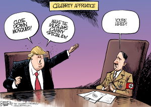 Image result for NAZI Trump CARTOON