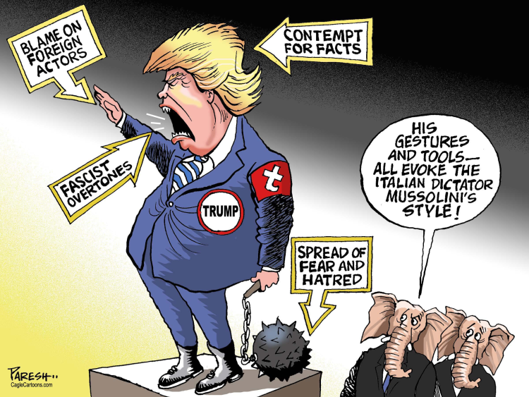 Image result for trump as dictator pics cartoons