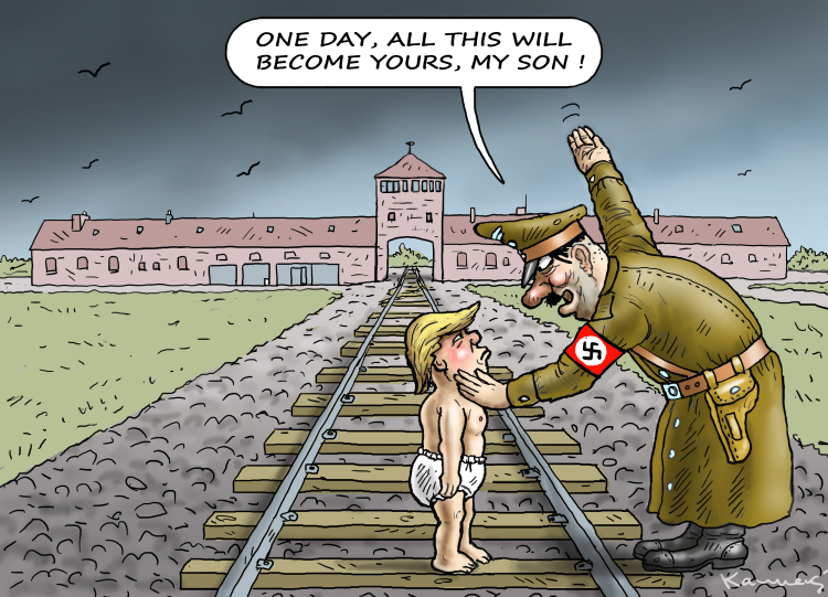 Image result for Trump's White House Nazi cartoon