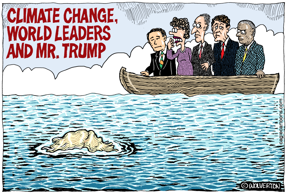 Image result for trump and climate change cartoons