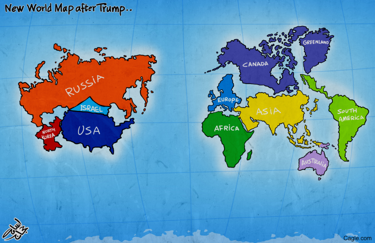 New World Map New World Map after Trump