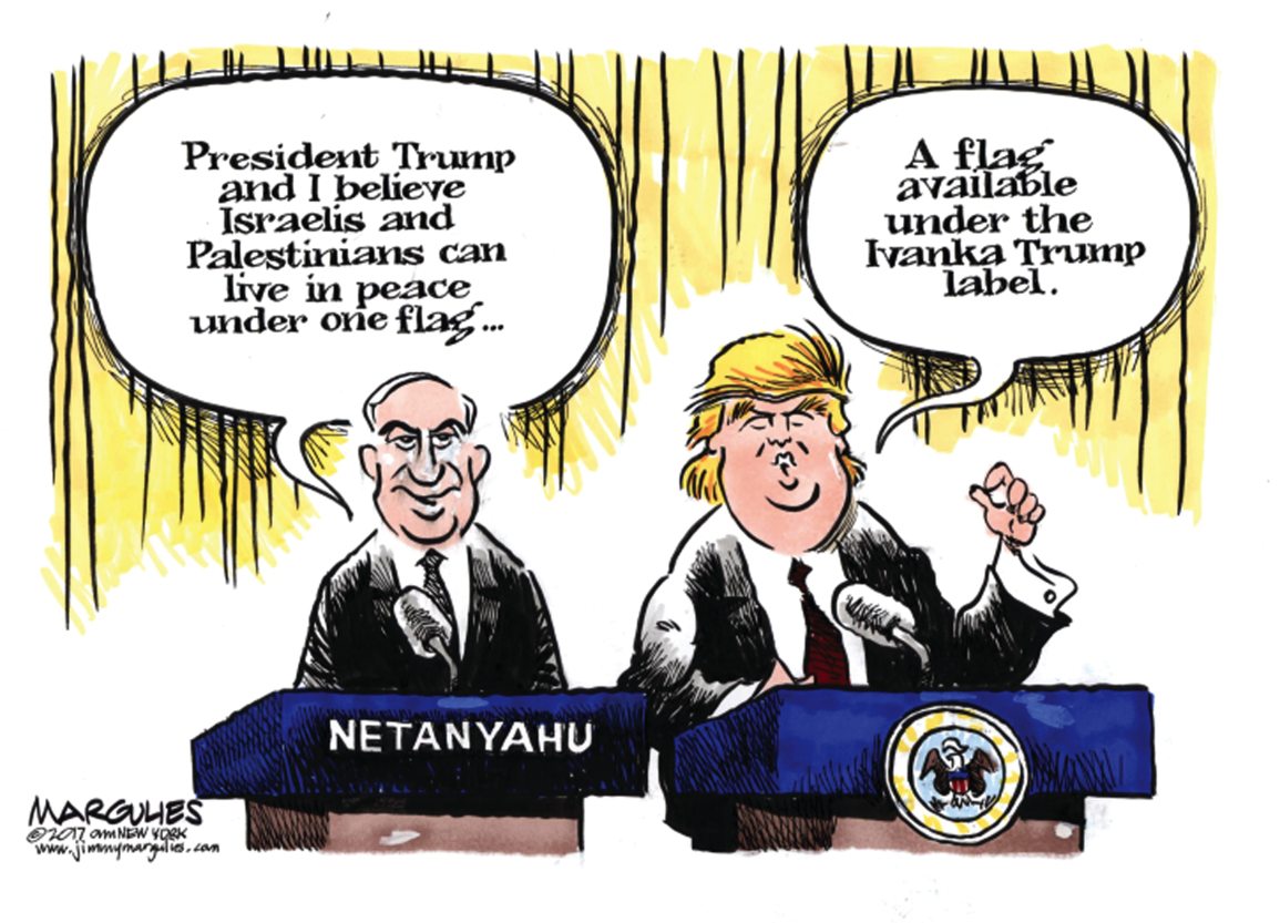 Image result for Netanyahu TRUMP CARTOON