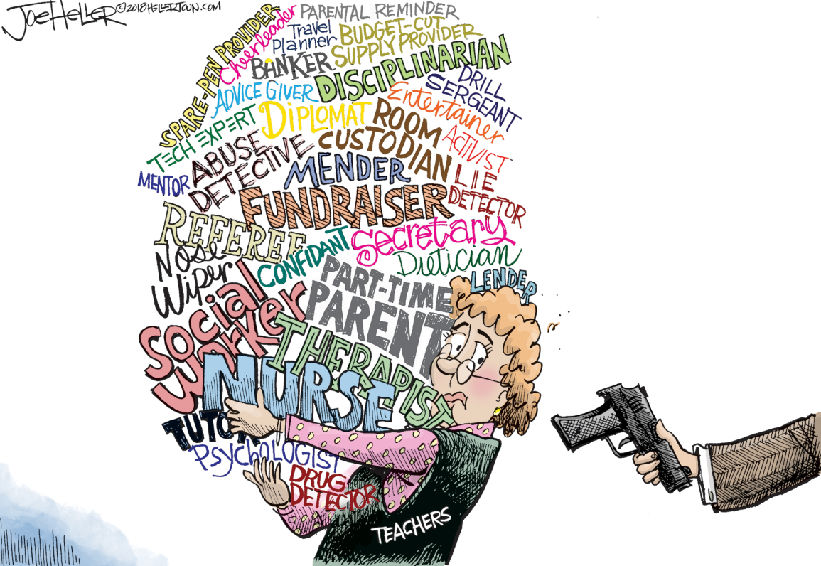 Image result for arming teachers cartoon