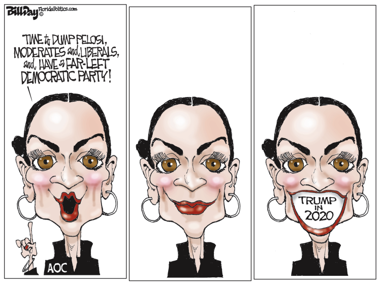 Image result for editorial cartoons of aoc