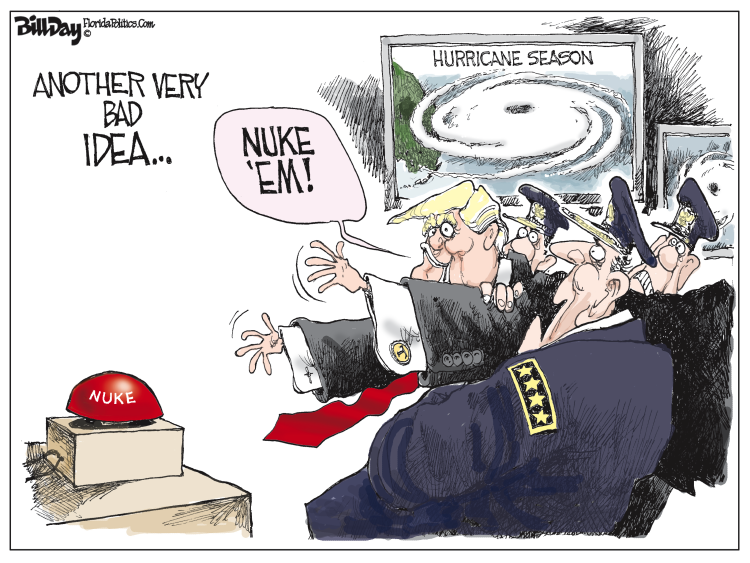 Image result for nukes hurricane cartoon