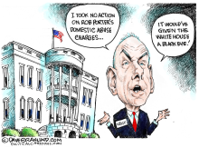 Gen Kelly and Rob Porter  by Dave Granlund