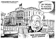 Bob Woodward book Trump White House by Dave Granlund