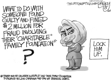 Clinton Foundation by Pat Bagley