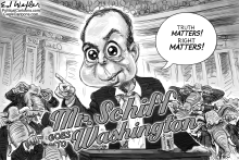 Mr Schiff Goes To Washington by Ed Wexler