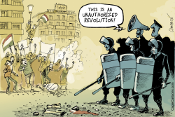 Tahrir Square is Rebelling Again by Patrick Chappatte