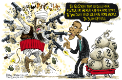 Pakistan and Obama  by Daryl Cagle