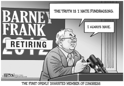 Barney Frank Announces Retirement by RJ Matson