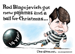 Blagojevich Christmas by Dave Granlund