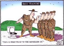 Urinating Soldiers by Bob Englehart
