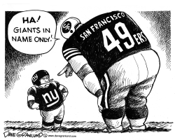 Giants vs 49ers for NFC trophy by Dave Granlund