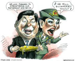 Xi Jinping and wife Peng Liyuan -  by Taylor Jones