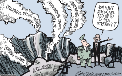 Afghan Exit Strategy  by Mike Keefe