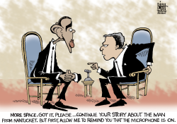 OBAMA AND OPEN MICROPHONES,  by Randy Bish