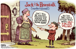Jack and the Lottery Ticket by Rick McKee