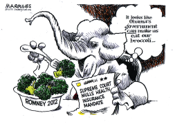 Make us eat broccoli color by Jimmy Margulies