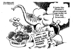 Making us eat broccoli by Jimmy Margulies