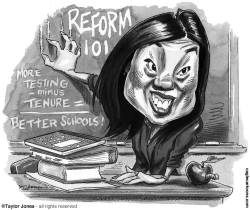 Education reformer Michelle Rhee by Taylor Jones