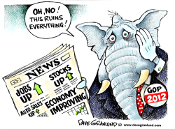 GOP and positive news by Dave Granlund