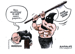 Murdoch and phone hacking probe color by Jimmy Margulies