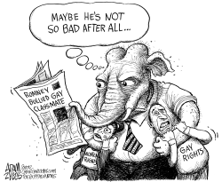 Romney the Bully by Adam Zyglis