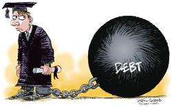 Student Debt  by Daryl Cagle