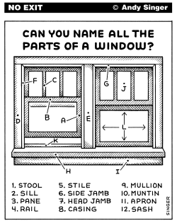 Window Parts by Andy Singer