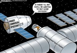 Commercial spaceflights by Steve Greenberg