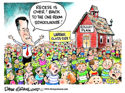 Romney education plan by Dave Granlund