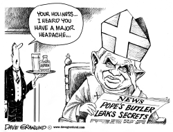 Pope and butler scandal by Dave Granlund