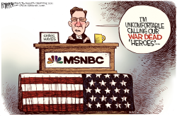 Chris Hayes is Uncomfortable  by Rick McKee