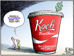 Koch Brothers Big Gulp by Christopher Weyant