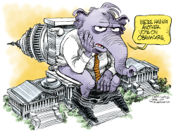 GOP Vote on ObamaCare Again   by Daryl Cagle