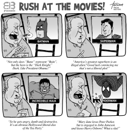 Rush Limbaugh at the Movies by Rob Tornoe
