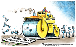 Penn State sanctions by Dave Granlund