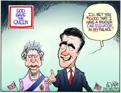 Romney Takes London  by Christopher Weyant