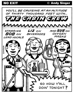 The Cabin Crew by Andy Singer