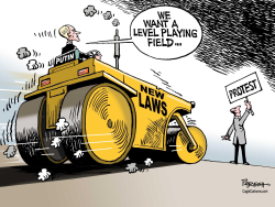 Putin's new laws  by Paresh Nath