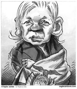 Julian Assange a la embajada by Taylor Jones