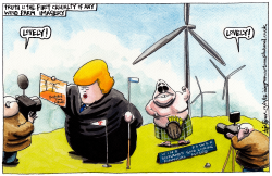DONALD TRUMP SCOTTISH WINDFARMS by Iain Green