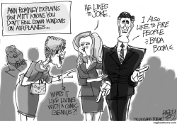 Mitt's Comic Stylings by Pat Bagley