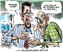 A college education pays off -  by Jim Day