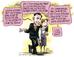 Romney and Women  by Daryl Cagle