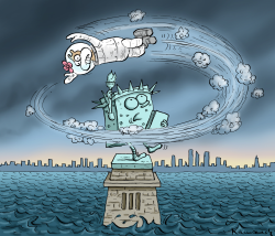 Hurricane Sandy by Marian Kamensky