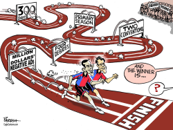 American poll race  by Paresh Nath