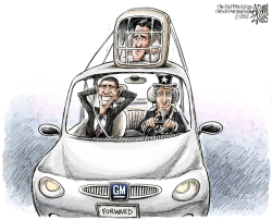 Obama Rides the Bailout to Victory  by Adam Zyglis